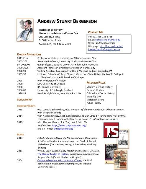 ANDREW STUART BERGERSON - College of Arts & Sciences