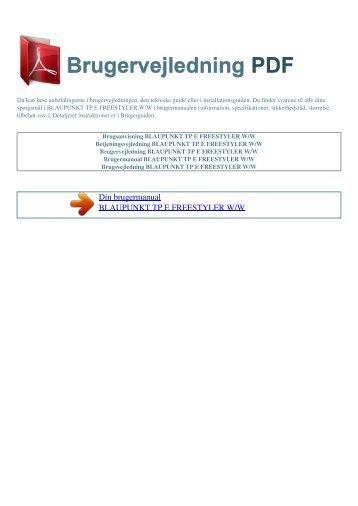 Brugsanvisning BLAUPUNKT TP E FREESTYLER W/W