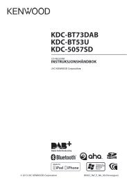 KDC-BT73DAB KDC-BT53U KDC-5057SD - Kenwood