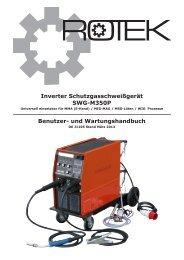 Inverter Schutzgasschweißgerät SWG-M350P Benutzer- und ... - Rotek