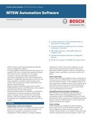 MTSW Automation Software - Bosch Security Systems