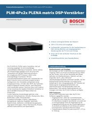 PLM-4Px2x PLENA matrix DSP-Verstärker - Bosch Security Systems