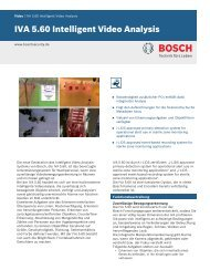 IVA 5.60 Intelligent Video Analysis - Bosch Security Systems