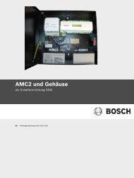 AMC2 und Gehäuse - Bosch Security Systems