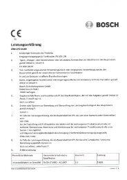 Leistungserklärung - Bosch Security Systems