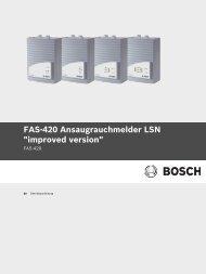 Betriebsanleitung - Bosch Security Systems