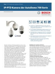 IP-PTZ-Kamera der AutoDome 700 Serie - Bosch Security Systems
