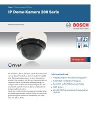 IP Dome-Kamera 200 Serie - Bosch Security Systems