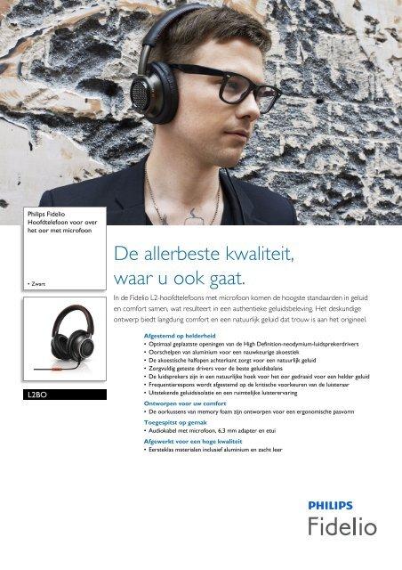 L2BO/00 Philips Hoofdtelefoon voor over het oor met ... - Fonq.nl