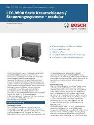 LTC 8500 Serie Kreuzschienen-/Steuerungssysteme – modular