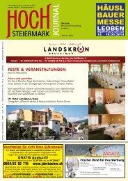 FESTE & VERANSTALTUNGEN - Hochsteiermark Journal