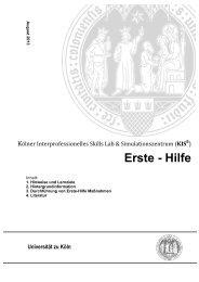 Erste - Hilfe - KIS - Universität zu Köln