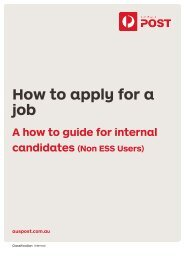 How to apply guide for internal employees - Australia Post