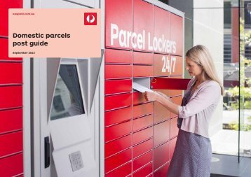 Domestic parcels post guide 8833732 - Australia Post