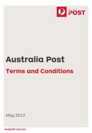 Australia Post Terms & Conditions