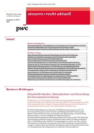 steuern_recht_aktuell_Ausgabe4_2013gs_Juni_Juli2013 - PwC Blogs