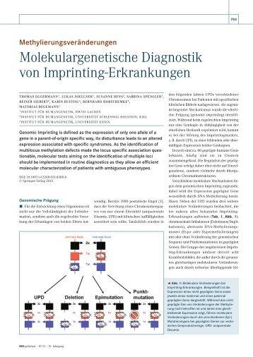Molekulargenetische Diagnostik von Imprinting ... - BIOspektrum