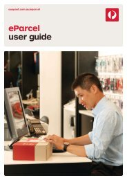 eParcel User Guide (3.44mb) - Australia Post