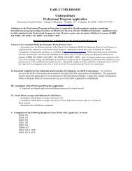 Professional Program Application - College of Education - University ...