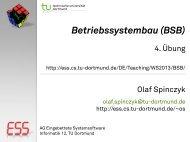 4. Übung - Embedded System Software Group - TU Dortmund