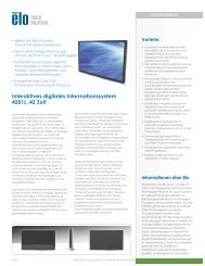 Interaktives digitales Informationssystem 4201L, 42 Zoll - Elo Touch ...