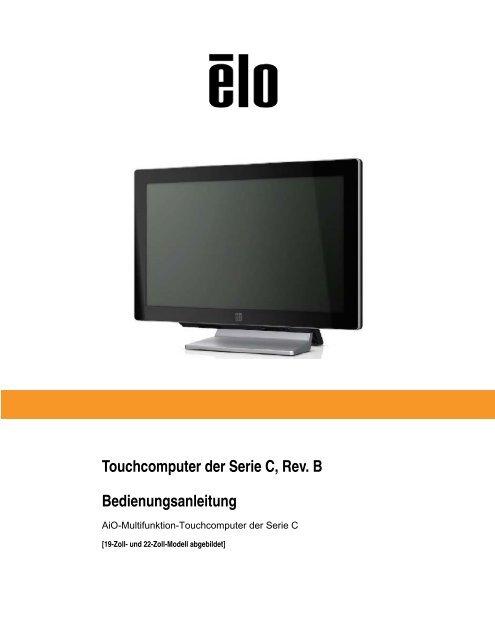 Touchcomputer der Serie C, Rev. B Bedienungsanleitung