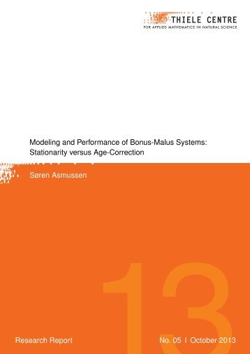 Modeling and Performance of Bonus-Malus Systems