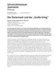 UMJ_Der große Krieg.pdf - Universalmuseum Joanneum