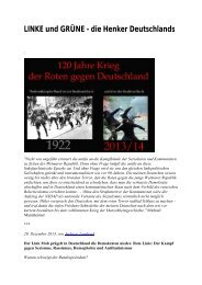 LINKE und GRÜNE - die Henker Deutschlands - deutschelobby