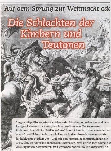 die Schlachten der Kimbern, Teutonen, Ambronen - deutschelobby