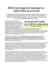 EZB-Politik ist kriminell - deutschelobby