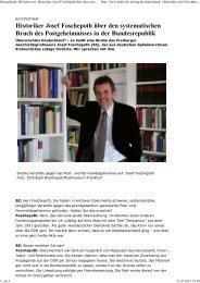 BZ-Interview: Historiker Josef Foschepoth über den ... - deutschelobby