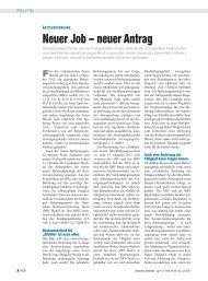 Neuer Job – neuer Antrag