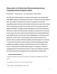 Observation of Unidirectional Backscattering-immune ... - MIT