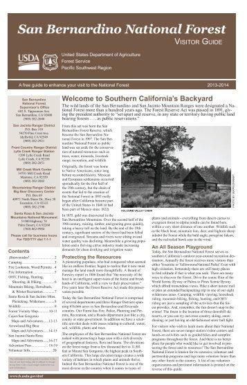 San Bernardino National Forest Visitor Guide - USDA Forest Service