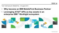 5. AT&T API adapters for IBM Worklight