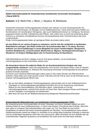 SGGG Informationsblatt für Anwenderinnen kombinierter ...