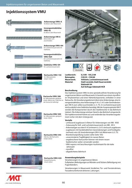 Injektionssystem VMU - Shop-Sortiment