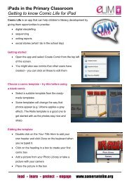 Getting started with Comic Life - Somerset Learning Platform
