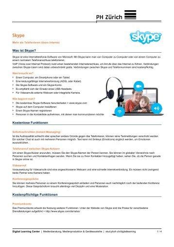 Anleitung zu Skype