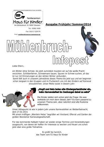 Mühlenbruch-Infopost - Warstein