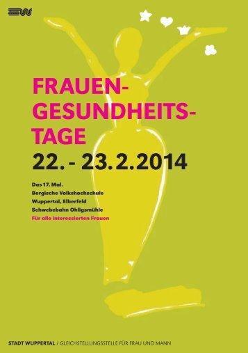 FrauenGesundheitsTagen - Stadt Wuppertal