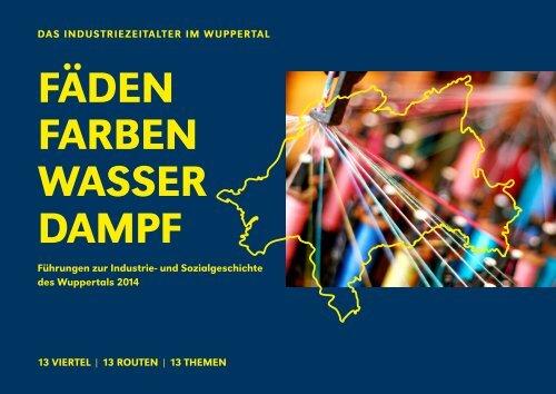 Fäden, Farben, Wasserdampf - Programm 2014 - Stadt Wuppertal