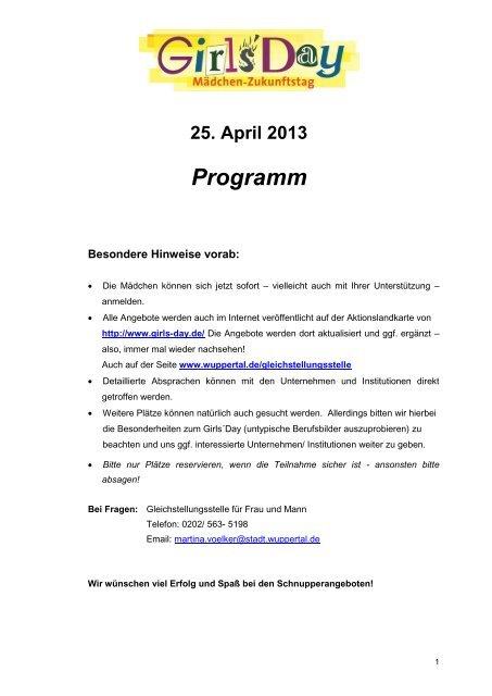 Programm - Stadt Wuppertal