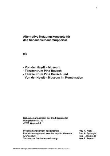 Vorlage VO/0616/13/1 - Stadt Wuppertal