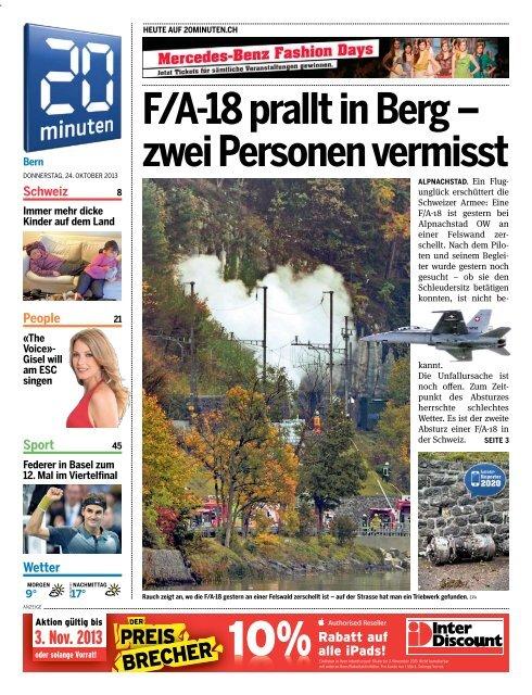 Fa 18 Prallt In Berg Zwei Personen Vermisst 20 Minuten