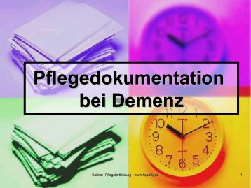 Pflegedokumentation bei Demenz - 4Quality.de