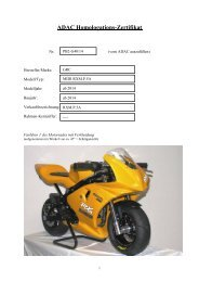 Homologation PB2-G40 14 - ADAC Motorsport