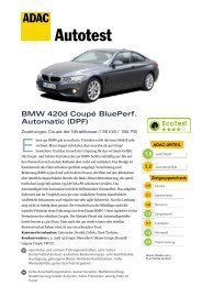 BMW 420d Coupé BluePerformance Automatic (DPF) - ADAC