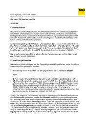 Merkblatt für Auslandsunfälle Belgien - ADAC
